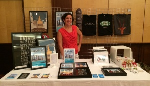 Meredith Hedrick with a Doha Designs show display